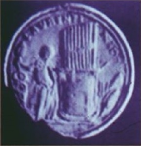 L'hydraulis sul medaglione di Valentiniano