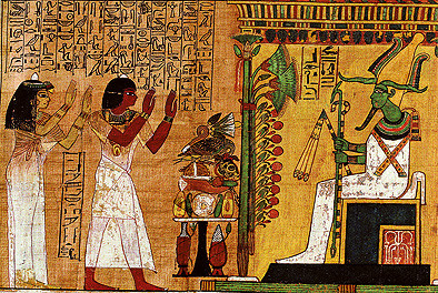 Geroglifici: dettaglio dal Libro dei Morti nella tomba di Kha