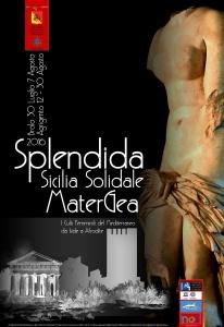 """Il manifesto della mostra """"Splendida Sicilia Solidale. Mater Gea"""""""