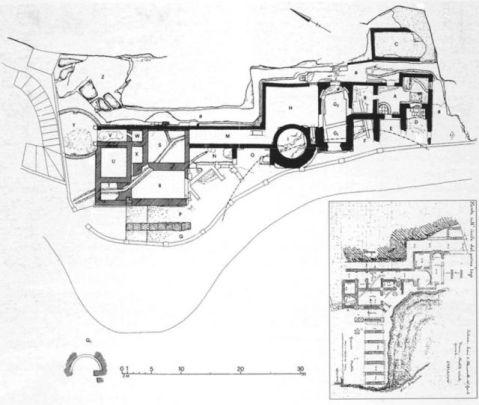 La pianta dell'imponente villa imperiale voluta da Nerone tra l'Aniene e i monti di Subiaco