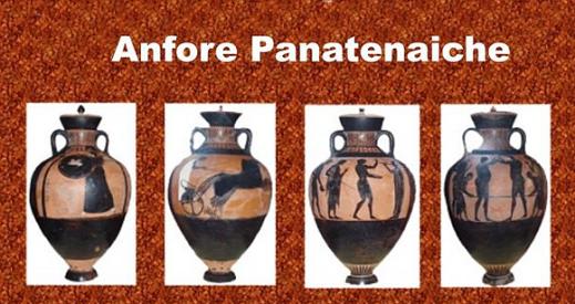 Le anfore panatenaiche assegnate agli atleti che primeggiavano in una specialità