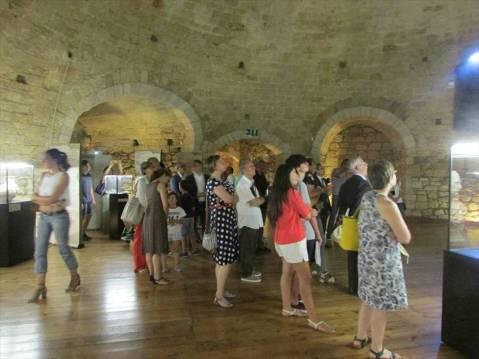 """L'allestimento della mostra """"Annibale. Un viaggio"""" al castello di Barletta"""