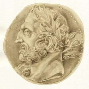 Una moneta con l'effige di Annibale