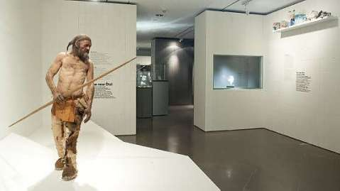 Il museo Archeologico dell'Alto Adige di Bolzano che conserva le spoglie della mummia del Similaun