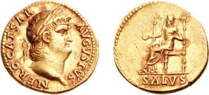 Un aureo dell'imperatore Nerone