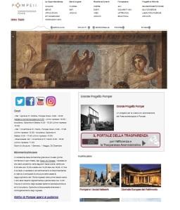 Una schermata del sito www.pompeiisistes.org della soprintendenza Pompei