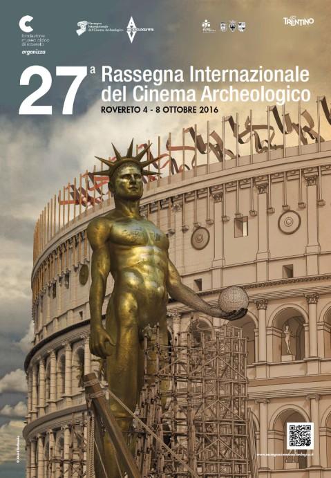 Il manifesto della 27.ma rassegna internazionale del cinema archeologico di Rovereto