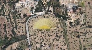 L'ipotesi di posizionamento del teatro dell'antica Akragas