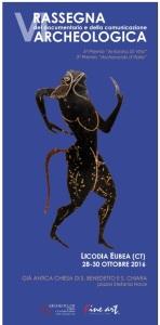 Il manifesto della VI Rassegna del Documentario e della Comunicazione archeologica di Licodia Eubea
