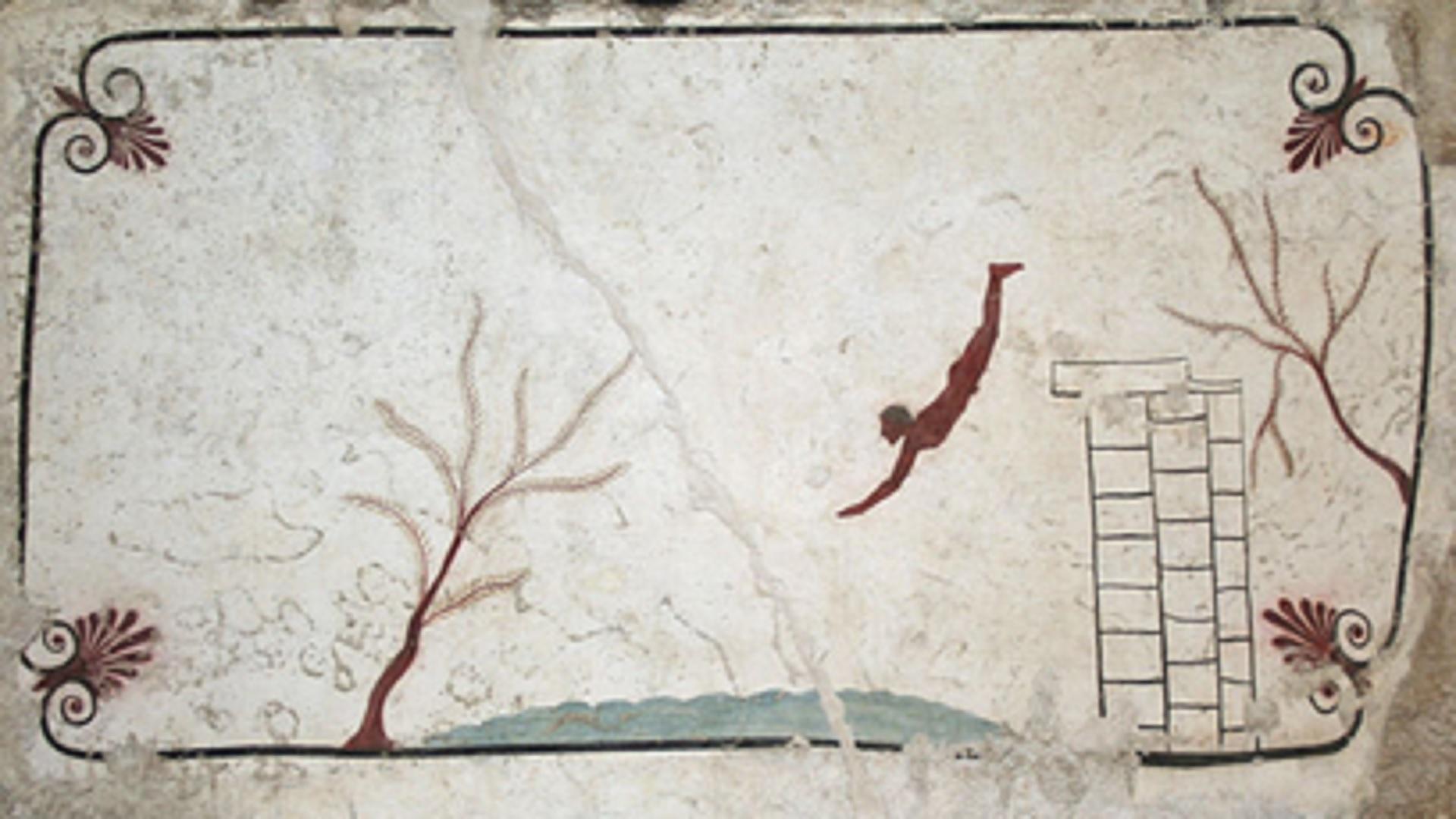 """Il Tuffatore"""" ritorna nel museo di Paestum dove trova una """"nuova casa"""" con un """"nuovo inquilino"""": l'inedita Tomba delle Palmette che svela il capolavoro: né etrusco né greco, ma opera di una"""