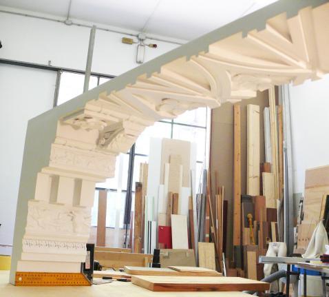 Un elemento del soffitto del tempio di Bel di Palmira ricostruito in 3D