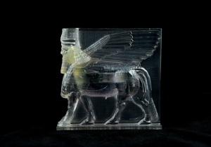 Un modello di ricostruzione digitale 3D del toro androcefalo di Nimrud