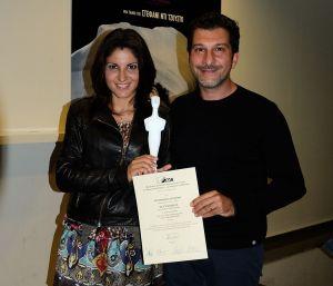 Coppia vincente: l'archeologa Alessandra Cilio e il regista Lorenzo Daniele