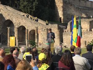 Il ministro Dario Franceschini alla presentazione di Eatstory a Pompei