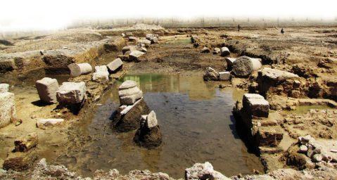 I resti del complesso tolemaico scavato nel quartiere moderno di Smouha ad Alessandria d'Egitto (foto Archeologia Viva)