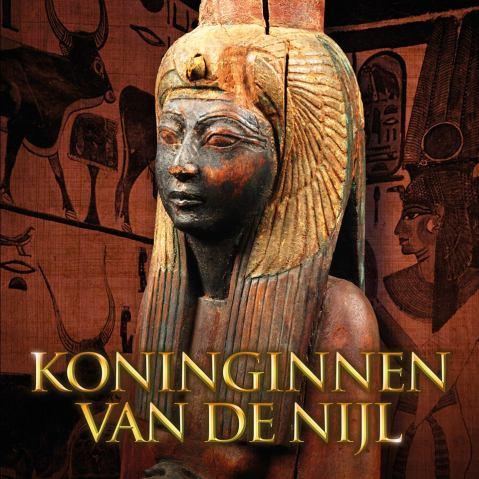 """Il manifesto della mostra """"Regine del Nilo"""" al Rjiksmuseum van Oudeheden di Leiden"""