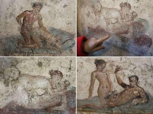 """Gli affreschi erotici del Piccolo Lupanare di Pompei o """"Lupanariello"""""""