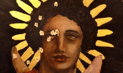 Un'opera elaborata per la mostra di Tivoli che denuncia le devastazioni di Palmira