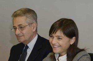 Antonio Zanardi Landi (Presidente Fondazione Aquileia) e Debora Serracchiani (Presidente Regione Friuli Venezia Giulia)