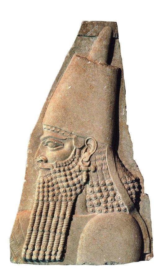 Frammento di un bassorilievo assiro con il ritratto di re Sargon II dal palazzo di Sargon a Khorsabad in Iraq (museo delle Antichità di Torino)