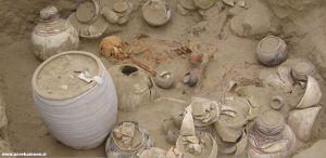 Una sepoltura scoperta nel sito iraniano di Shahr-e Sokhta