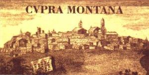 Un'antica stampa del borgo di Cupramontana