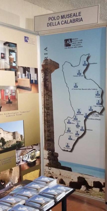 Lo stand del Polo museale della Calabria a Tourisma 2017