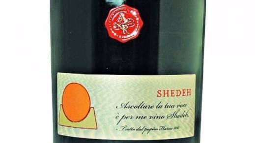 """L'etichetta del vino Shedeh prodotto dall'azienda trevigiana """"Antonio Rigoni"""""""