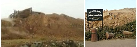 Un ammasso di macerie è quanto rimane della monumentale porta di Mashki di Ninive, distrutta dall'Isis