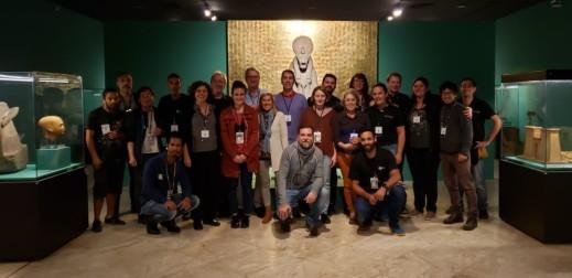 Il gruppo di egittologi del museo Egizio di Torino coordinato dal direttore Christian Greco con i coleghi brasiliani (foto museo Egizio)