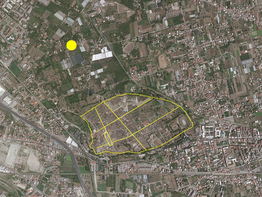 civita-giuliana_Posizione-rispetto-a-pompei_foto aerea-parco-archeologico-di-pompei