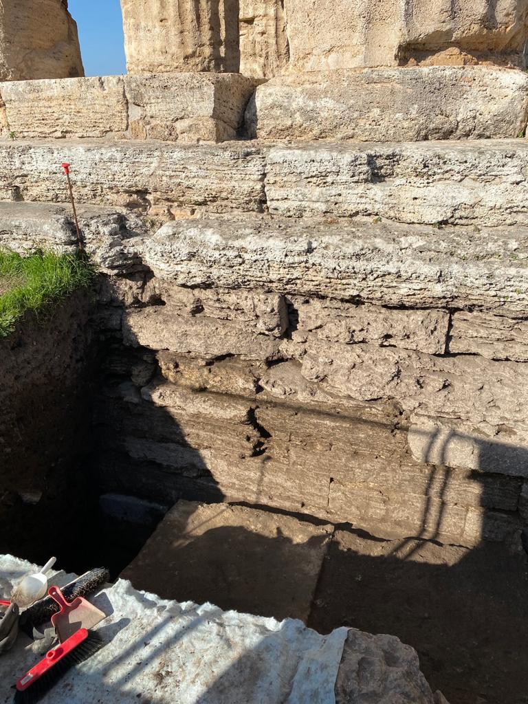 paestum_scavi al tempio di Nettuno_foto-pa-paeve