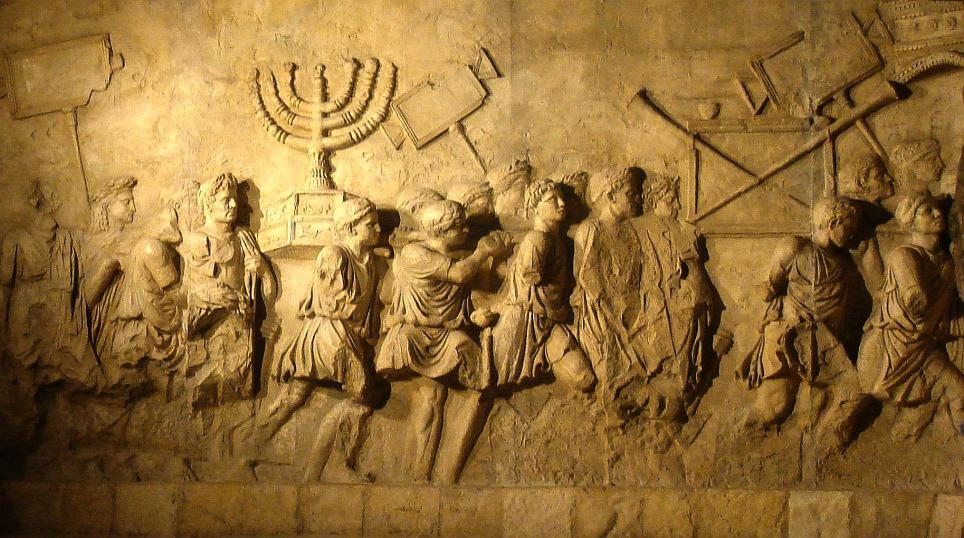 roma_arco-di-tito_spogliazione-menorah-e-oggetti-sacri-dal-tempio-copia-del-rileivo_foto-PArCo