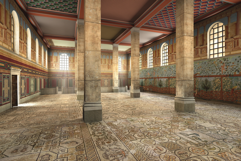 aquileia_basilica_ipotesi-ricostruttiva-aula-sud_foto-fondazione-aquileia