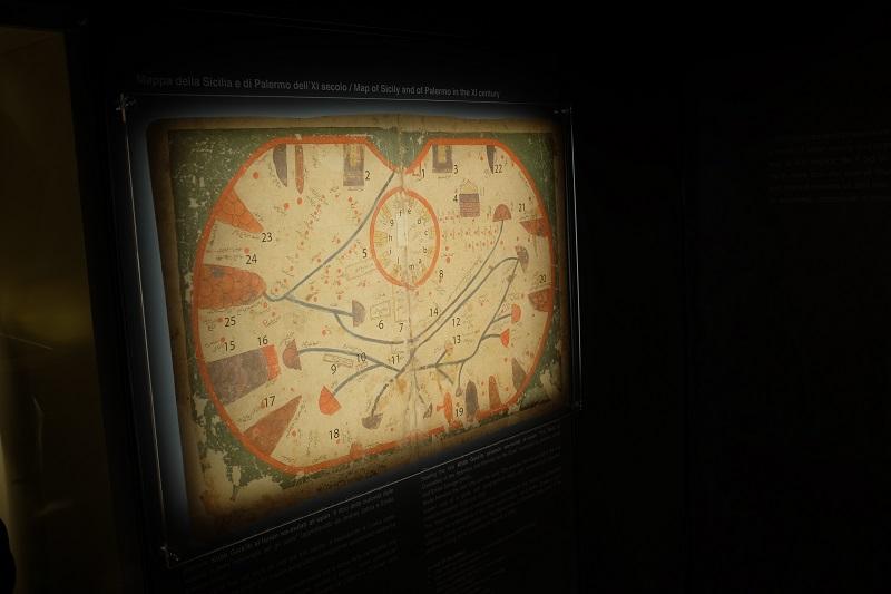 palermo_Palazzo-Reale_Itinerario archeologico_mappa-palermo-XI-secolo_foto-fondazione-federico-II