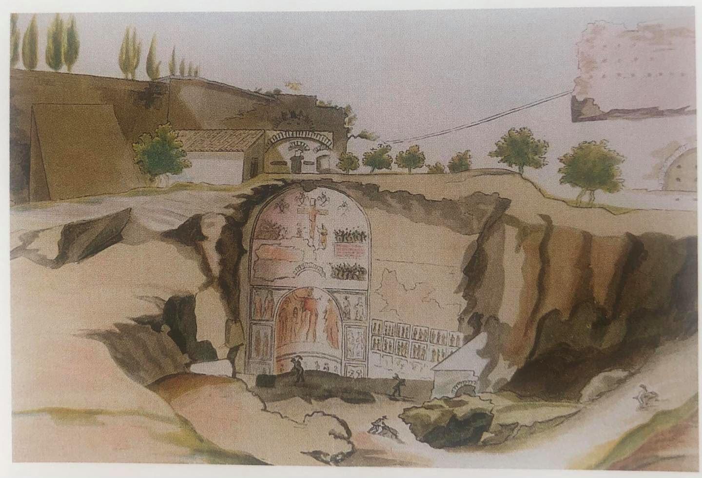 roma_foro-romano_santa-maria-antiqua_acquerello-1702_foto-PArCo