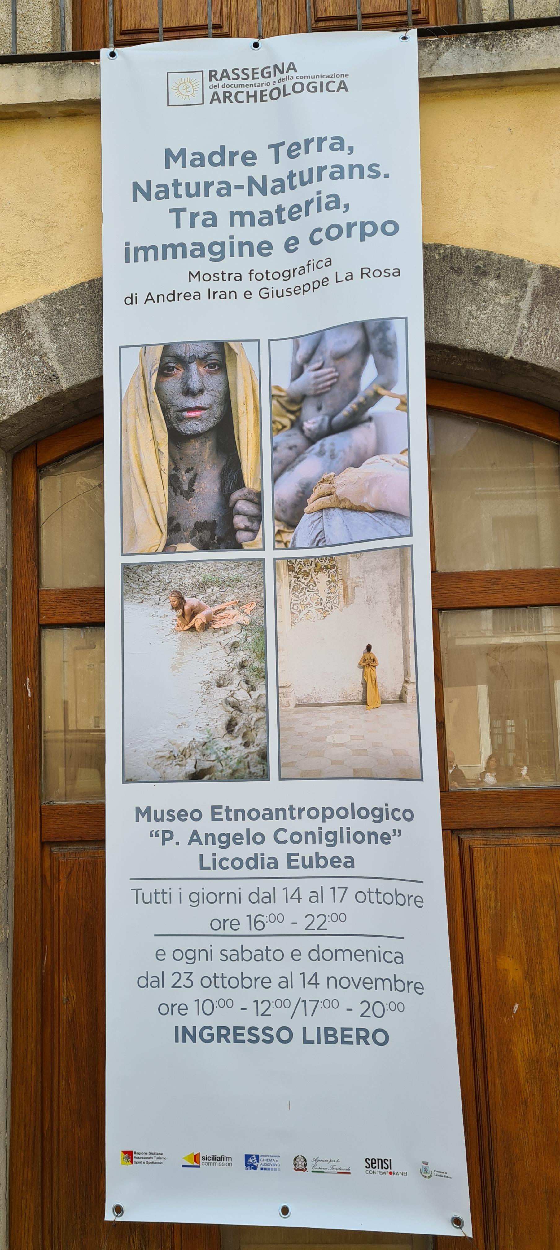 Licodia Eubea - Madre Terra Natura Naturans . Performance al castello Santapau_manifesto-mostra_foto-graziano-tavan